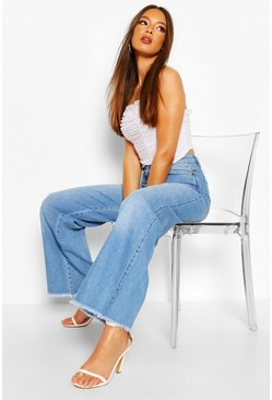 Light blue blue High Rise Wide Leg Jean