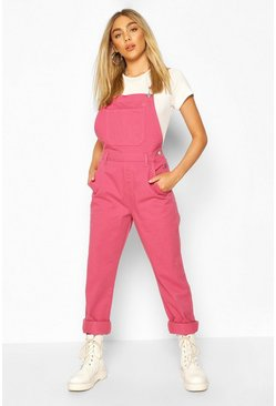 Pink Boyfriend Denim Dungaree