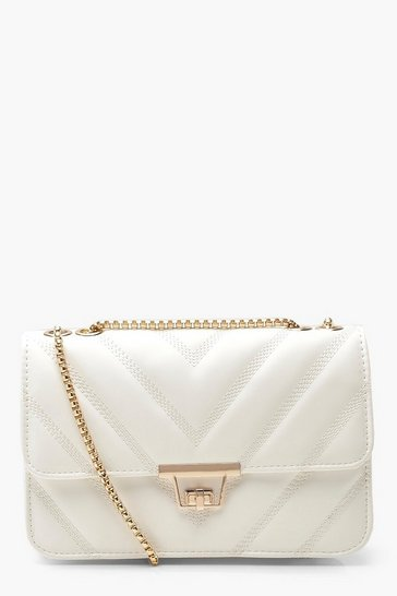 White PU Cross Body Bag