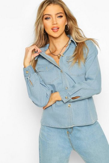 Light blue Denim Western Shirt