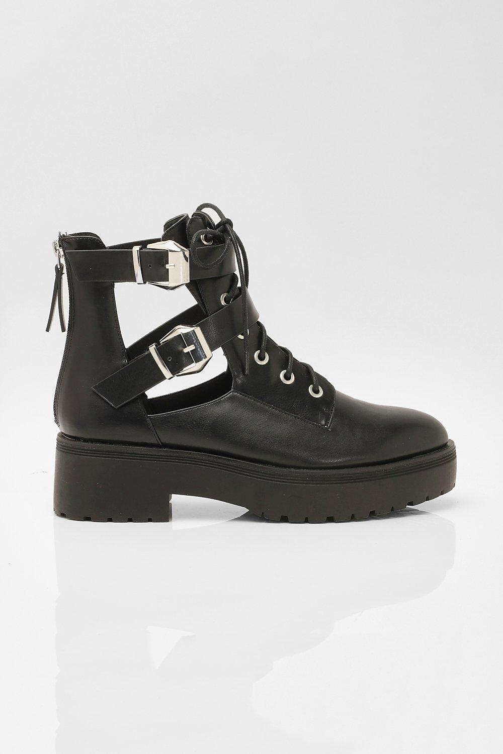 Chunky Cut Out Hiker Boots | boohoo SE
