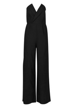Green Structured Tailored Jumpsuit