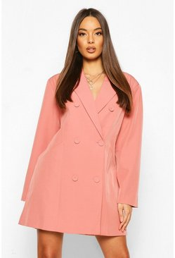Blush pink Oversized Masculine Fit Blazer Dress