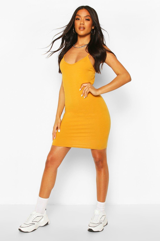 DRESSES Basic Strappy Cami Bodycon Dress