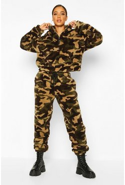 Camo Borg Fleece Joggers