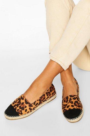 Leopard multi Toe Cap Basic Espadrilles