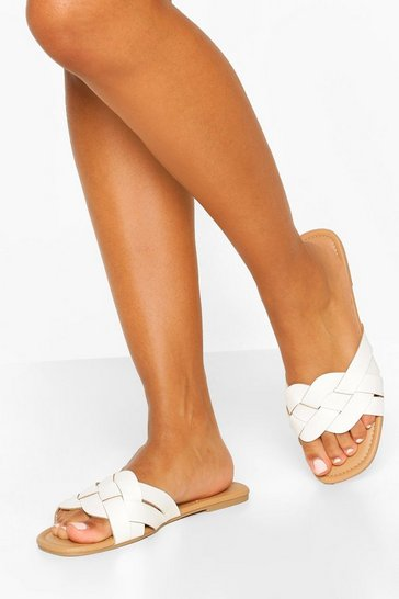 Wide Fit Woven Strap Sliders