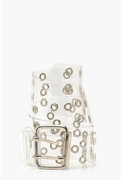 Clear Studded Buckle Belt