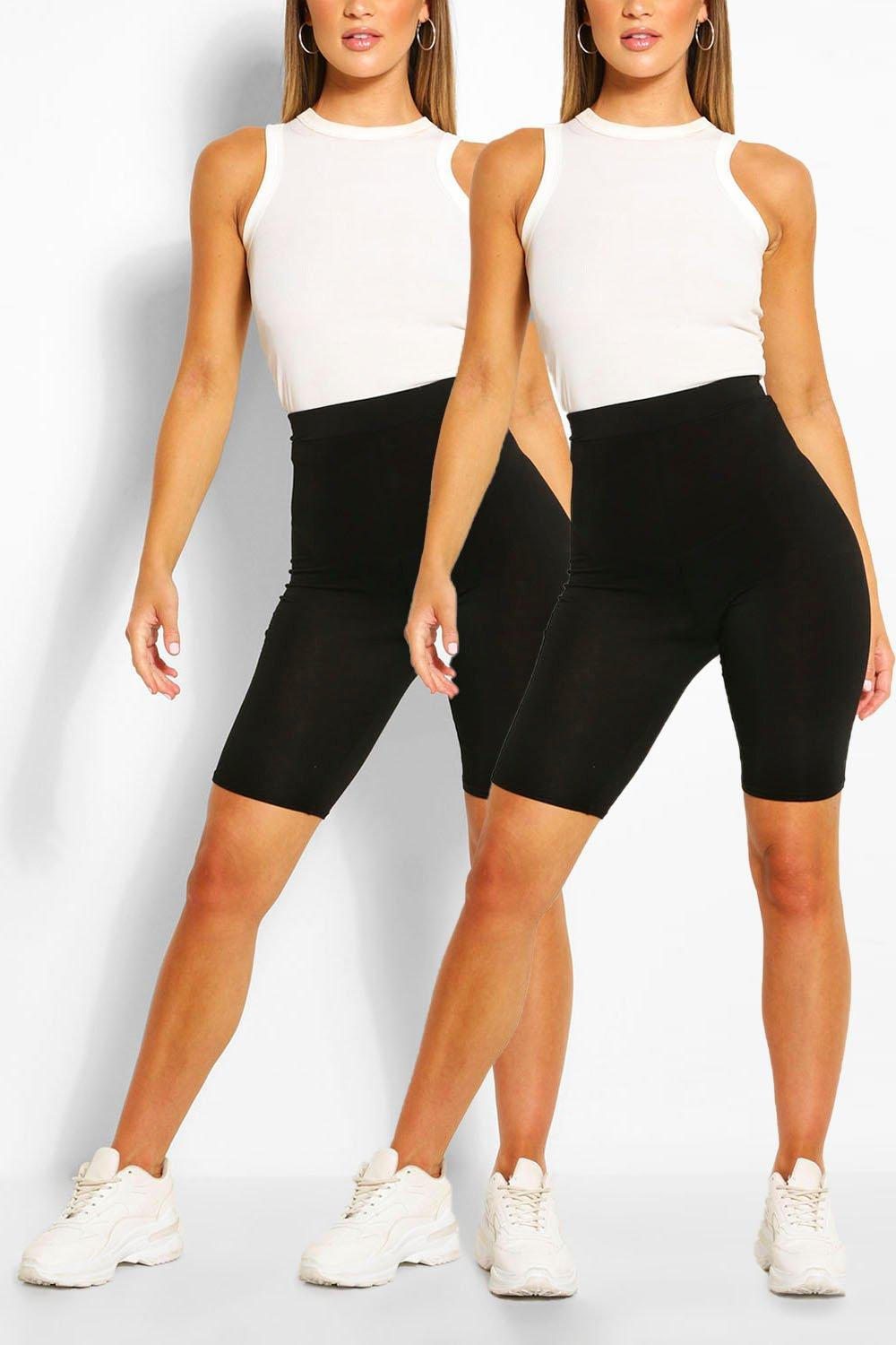 Don't Miss Out 2 Pack Basic Jersey Cycling Shorts