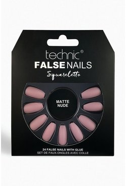 Technic Squareletto Matte Nude False Nails