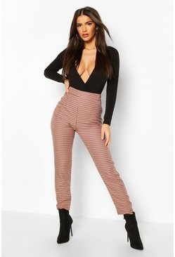 Dogtooth Check Slim Fit Trousers