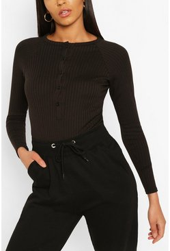 Black Mix & Match Edition Rib Bodysuit