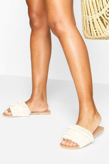 Natural Tassel Detail Sliders