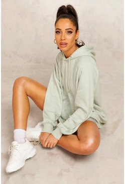 Sage Mix And Match Edition Longline Hoodie