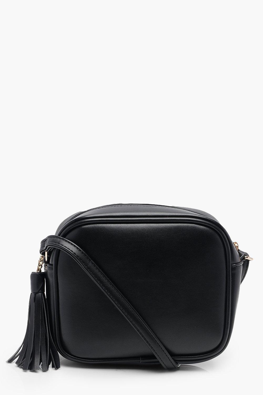 Crossbody Bags PU Zip Around Cross Body Bag With Tassel