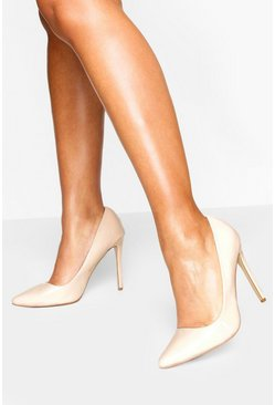Nude High Heel Pointed Court Shoes