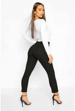 Black Skinny Stretch Tailored Trouser