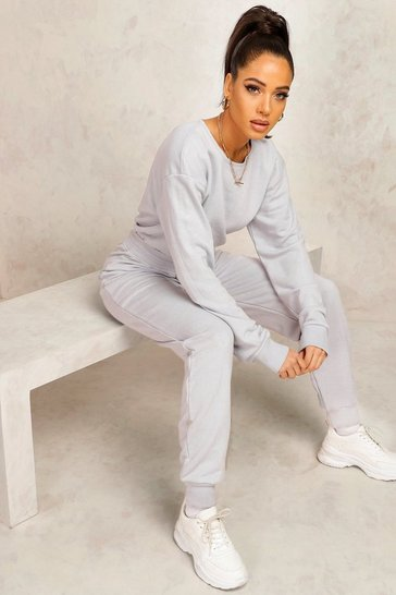 Grey Mix & Match Edition Sweat Loungewear Jumpsuit