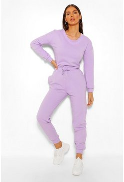 Lilac purple Mix & Match Edition Sweat Jogger Jumpsuit