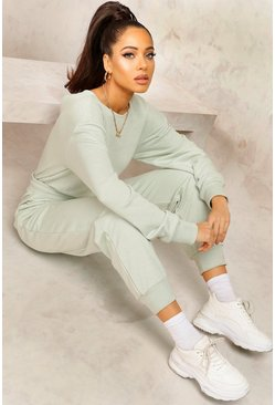 Sage green Mix & Match Edition Sweat Jogger Jumpsuit