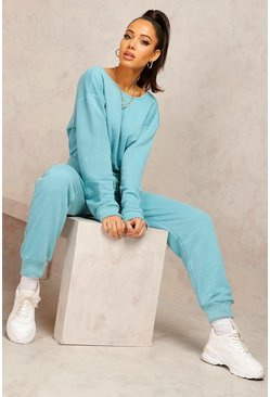 Teal green Mix & Match Edition Sweat Jogger Jumpsuit