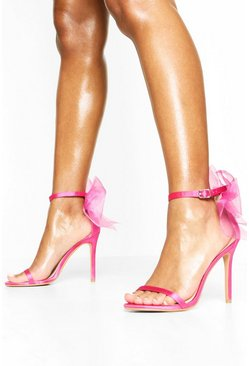 Pink Bow Back Two Part Heels