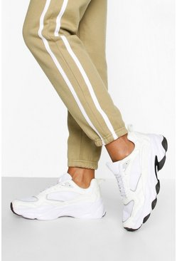 White Contrast Sole Chunky Sports Trainers