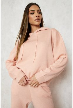 Hoody Knitted Lounge Set, Blush