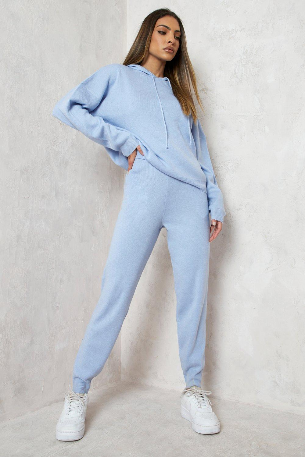 Co Ord Sets Hoody Knitted Lounge Set