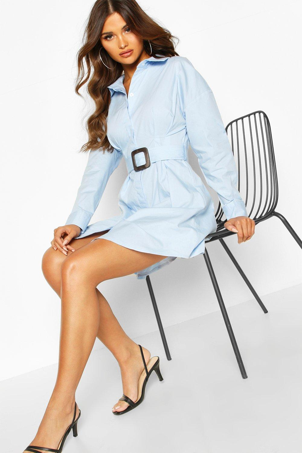 Sale Suits & Tailoring Belted Shirt Dress
