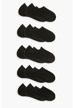 Black 10 Pack Basic Trainer Socks