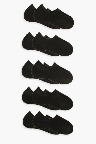 Black 10 Pack Basic Trainer Socks