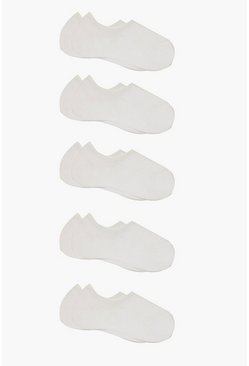 White 10 Pack Basic Trainer Socks