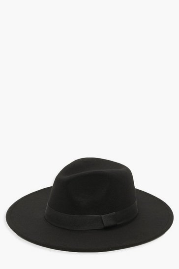 Black Tape Detail Fedora Hat