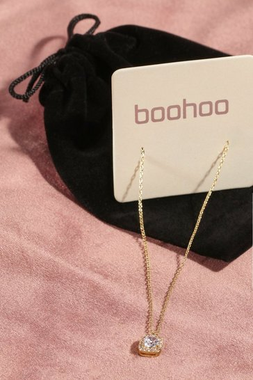 Gold metallic Premium Plated Cubic Zirconia Necklace