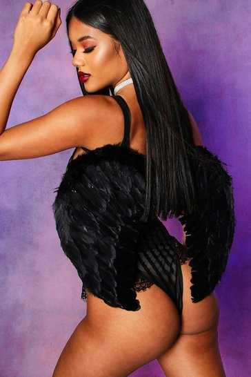 Black Halloween Angel Wings