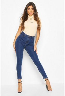 Indigo blue High Rise Super Stretch Skinny Jean