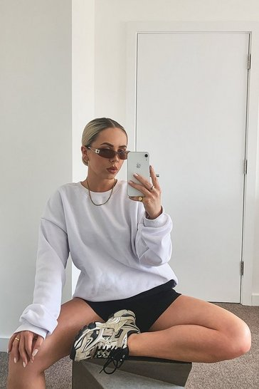 White The Basic Mix & Match Oversized Sweat