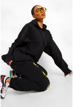 Black The Mix And Match Oversized Hoodie