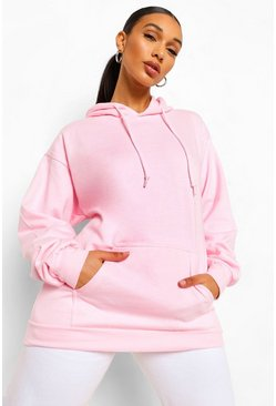 Blush pink The Mix And Match Oversized Hoodie
