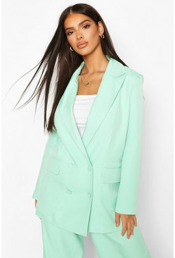 Premium Double Breasted Blazer, Mint verde