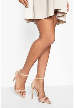 Nude Pointed Toe Barely There Heels