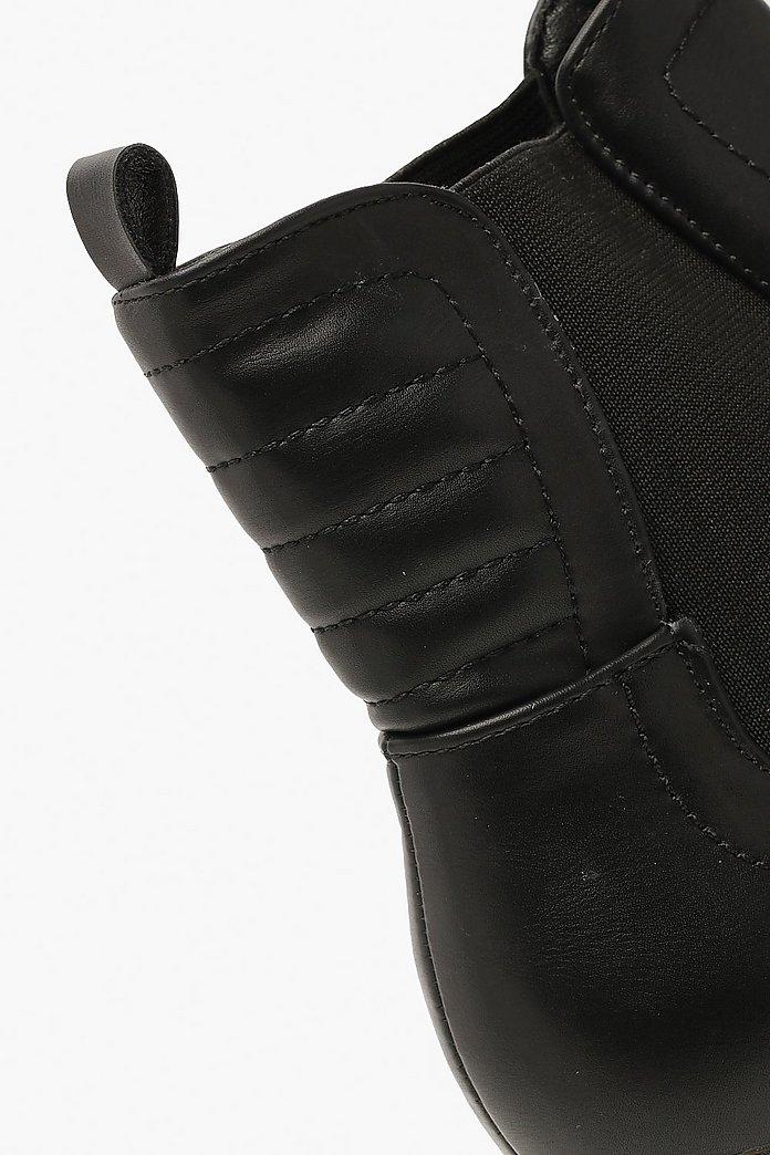 Block Heel Chunky Chelsea Boots | boohoo SE