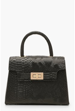 Black Snake Small Tote Bag