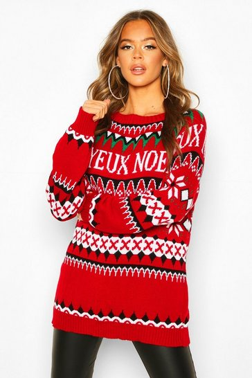 Red Joyeux Noel Christmas Jumper