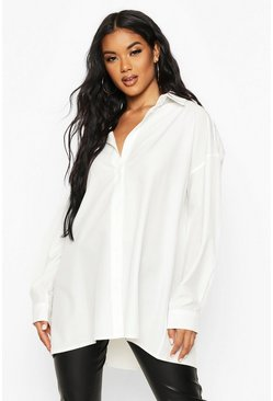 Wit white Extreem oversized shirt