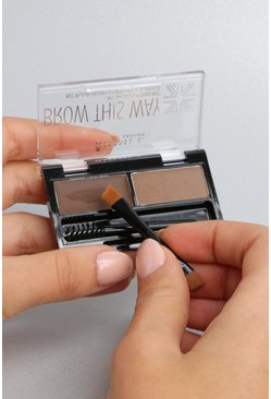 Rimmel London Brow This Way Kit - marron moyen