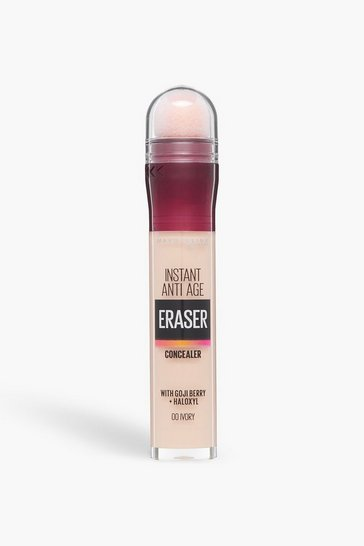 Cream white Maybelline Eraser Eye Concealer 00 Ivory