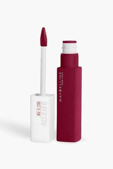 Berry red Maybelline Superstay Liquid Lip 115 Founder