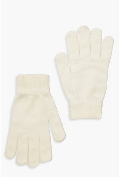 Cream Basic Gloves